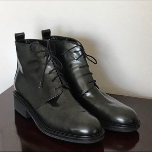 Calvin Klein Black Leather Ankle Boot NWOT